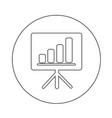 presentation board icon design vector image vector image