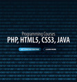 programming courses banner for social media vector image vector image