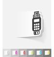 realistic design element POS terminal vector image