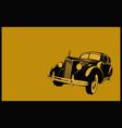 retro vintage car vector image