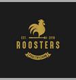 roosters vintage logo vector image