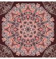 Round floral design seamless pattern vector image