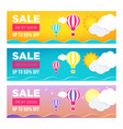 sale banner template design set web banner flyer vector image vector image