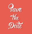 save date card template with handdrawn unique vector image