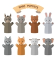 set hand puppets in flat style doll vector image vector image