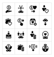 Set icons of charity and donate vector image vector image