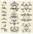 Set monograms floral ornaments baroque style vector image vector image