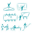 set of business people characters collection of vector image
