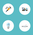 set of construction icons flat style symbols with vector image vector image