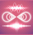 set of isolated transparent sound or radio waves vector image