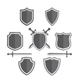 Simple shields badges design Retro design vector image vector image