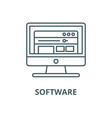software line icon linear concept outline vector image vector image
