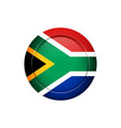 south african flag on the round button vector image