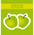 stickers apple green dot background vector image