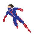 superhero flying action cartoon superhero man vector image vector image