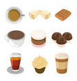 sweet food cafeteria set vector image