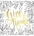 Thanksgiving - gold glittering lettering design vector image vector image