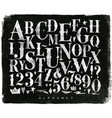 vintage gothic alphabet chalk vector image vector image