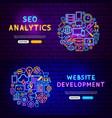website development banners vector image