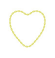 yellow chain in shape of heart vector image vector image