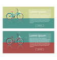bright of bike set colorful vector image