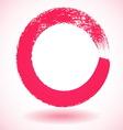 Pink paintbrush circle frame vector image