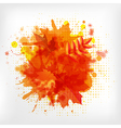 Abstract Orange With Blobs Autumn Leafs vector image vector image