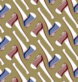 axe tool background pattern vector image vector image
