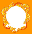 background with oranges vector image