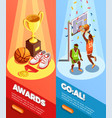 basketball awards vertical banners vector image vector image