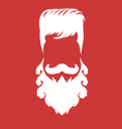 Bearded man silhouette with long hair vector image