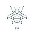 bee line icon linear concept outline sign vector image