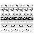 black floral ornaments - set vector image vector image