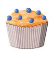 bluberry muffin dessert chcolate cupcake vector image