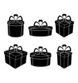 boxes black silhouettes vector image vector image