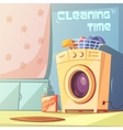 Cleaning Time vector image vector image