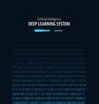 deep learning system banner for social media vector image vector image