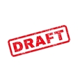 Draft Text Rubber Stamp vector image vector image