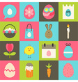 Easter flat stylized icon set 2 vector image vector image
