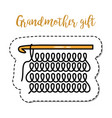 fashion patch element grandmother knitting vector image vector image