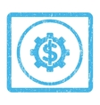 Financial Options Icon Rubber Stamp vector image vector image