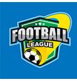 football league logo vector image vector image