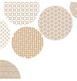 golden circles with different geometric patterns vector image vector image