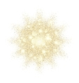 Golden glitter texture splash on black background vector image