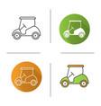 golf cart icon vector image vector image
