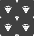 Grapes icon sign Seamless pattern on a gray vector image