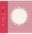 greeting card or cover with bow Space for your vector image vector image