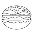 hamburger icon outline style vector image
