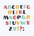 handwriting alphabets on white vector image vector image