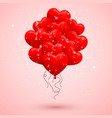 happy valentines day background red balloon vector image vector image